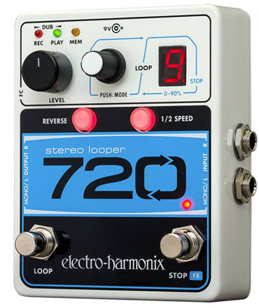 Electro-Harmonix 720 STEREO LOOPER with 10 Loops & 12 Minutes Recording Time, 9.6DC-200 PSU included
