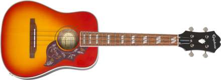 Epiphone Hummingbird Acoustic/Electric Ukulele Outfit (Tenor) Faded Cherry Sunburst