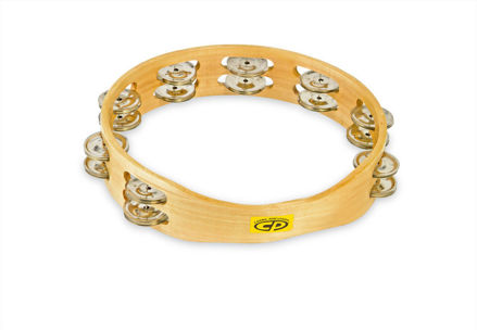 Latin Percussion CP390 Tambourine CP  Wood - 10'', double row