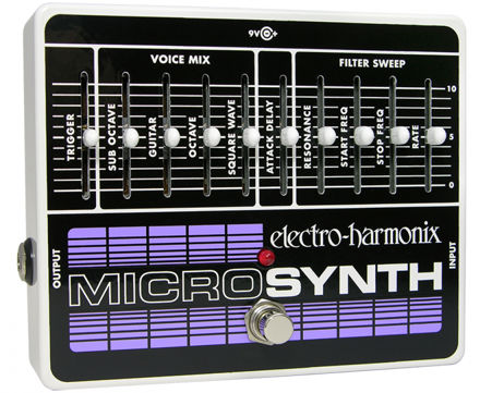 Electro-Harmonix MICROSYNTH Analog Guitar Synthesizer, 9.6DC-200 PSU included
