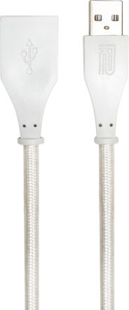 Roland RCC-10-UAUF 10FT / 3M INTERCONNECT CABLE, USB-A - USB-A(F), WHITE WOVEN