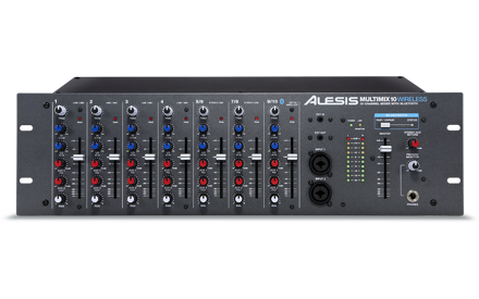 Alesis Multimix 10 Wireless | 10-Channel Rackmount Mixer with Bluetooth Wireless
