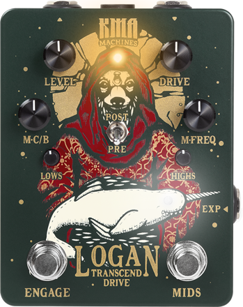 KMA Audio Machines - Logan  - Overdrive Pedal with switchable mid boost