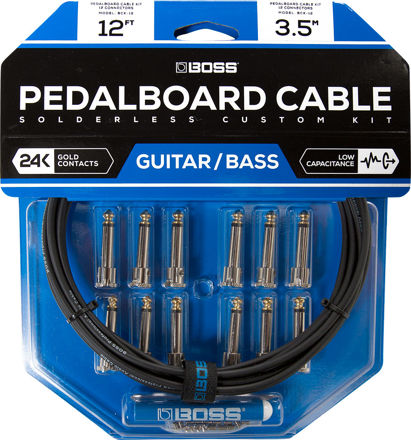 Boss BCK-12 PEDAL BOARD CABLE KIT, 12 CONNECTORS , 12FT / 3.6M CABLE
