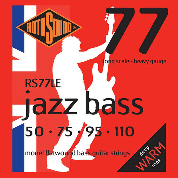 Rotosound RS77LE Jazz Bass Flat Wound - Heavy 50-110