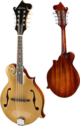 Eastman MD415-GD - Goldtop F-style F-holes, Solid Spruce top, Solid Mahogany back and sides, Gold top, w/Case