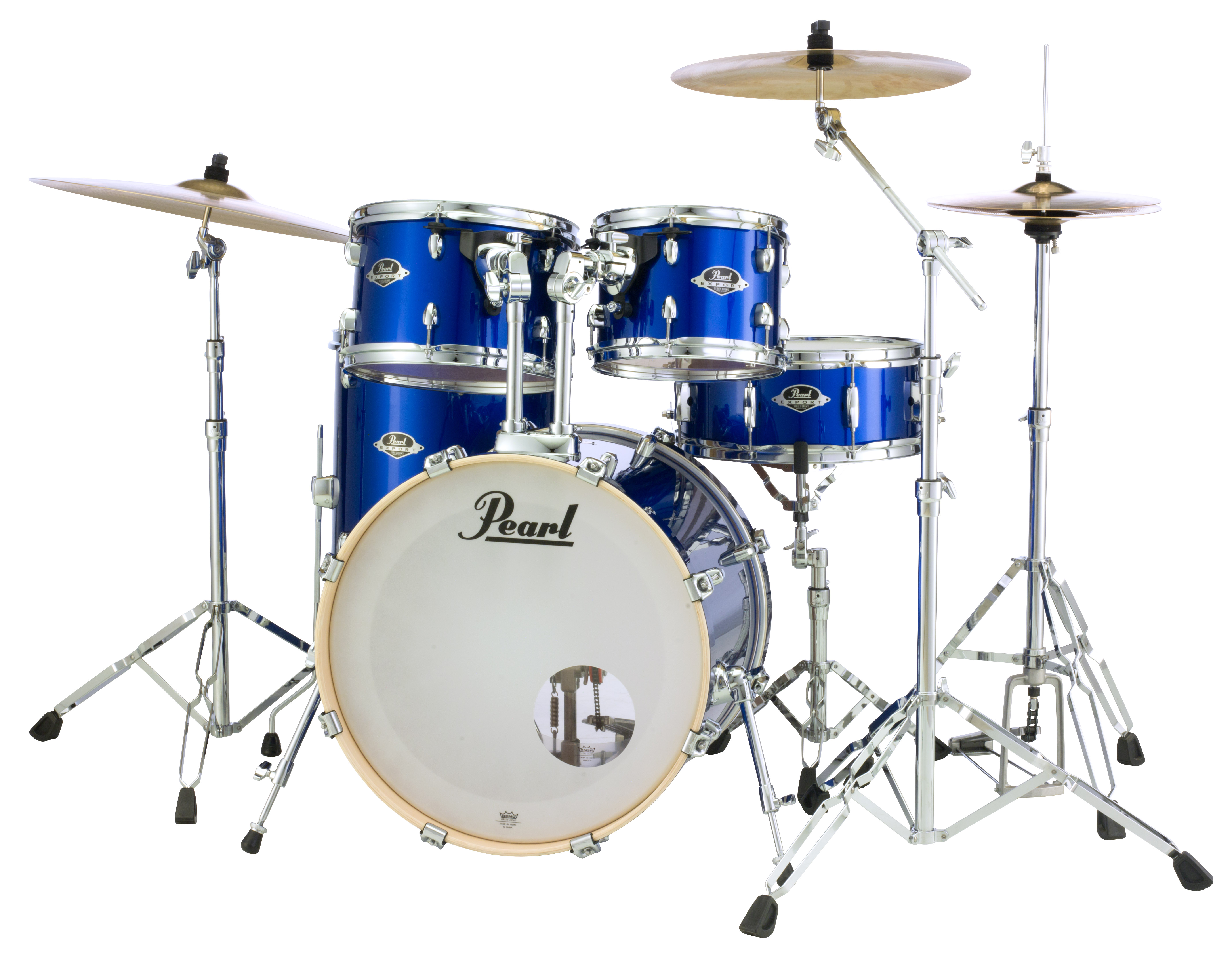 Pearl Export 5 pc Drum Set with HWP830 and SBR Cymbal Pack   High Voltage Blue 2016BB/1007T/1208T/1414F/1455S/HWP830