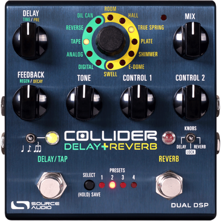 Source Audio Collider Stereo Delay+Reverb
