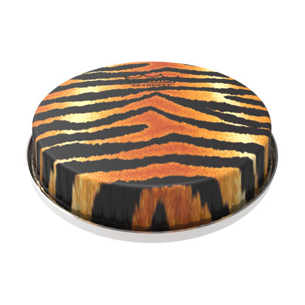 "Remo Bongo Drumhead R-Series 7.15"" Skyndeep ""Tiger Stripe"" Graphic"