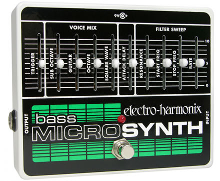 Electro-Harmonix BASS MICROSYNTH Analog/Synthesizer, 9.6DC-200 PSU included