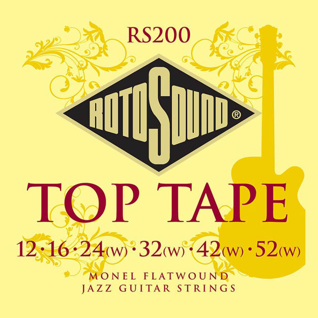 Rotosound RS200 Top Tape Flat Wound 12-52