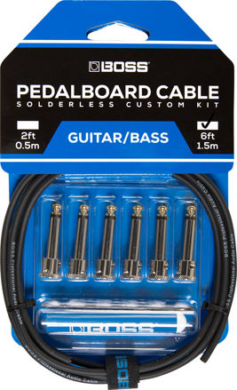 Boss BCK-6 PEDAL BOARD CABLE KIT, 6 CONNECTORS, 6FT / 1.8 M CABLE