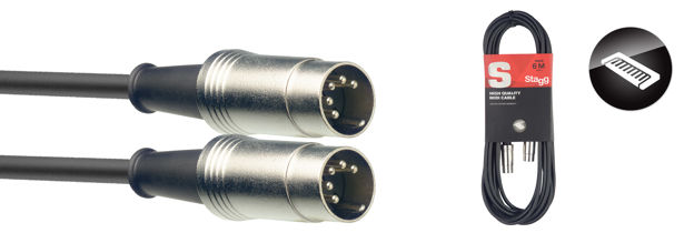STAGG SMD6 midi cable 6m