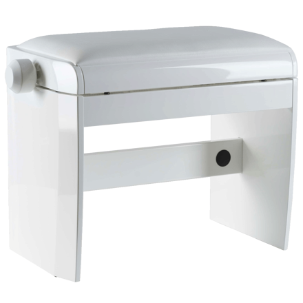 Dexibell Wooden Bench White Polished