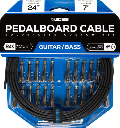 Boss BCK-24 PEDAL BOARD CABLE KIT, 24 CONNECTORS, 24FT / 7.3M CABLE