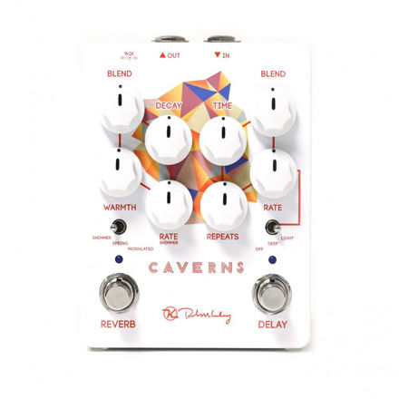 Keeley Electronics - Caverns Delay/Reverb V2 - Delay pedal with Modulation. Spring, Shimmer and Modulated Reverb