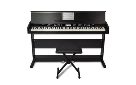 Alesis Virtue 88-Key Digital Piano with Stand and Adjustable Bench | Black