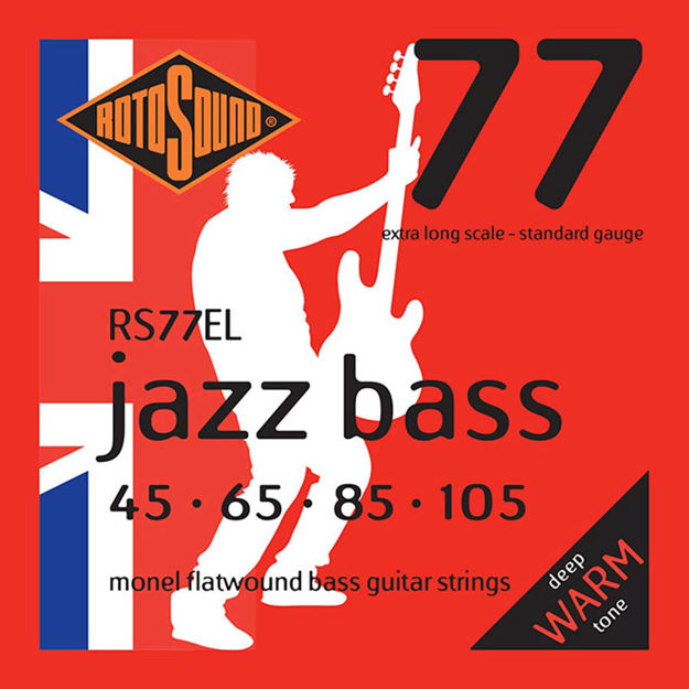 Rotosound RS77EL Jazz Bass Flat Wound - Extra Long Scale 45-105