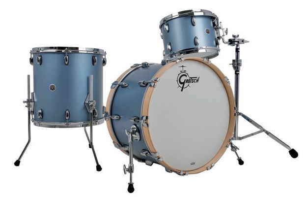 Gretsch shell set USA Brooklyn - Satin Ice Blue Metallic