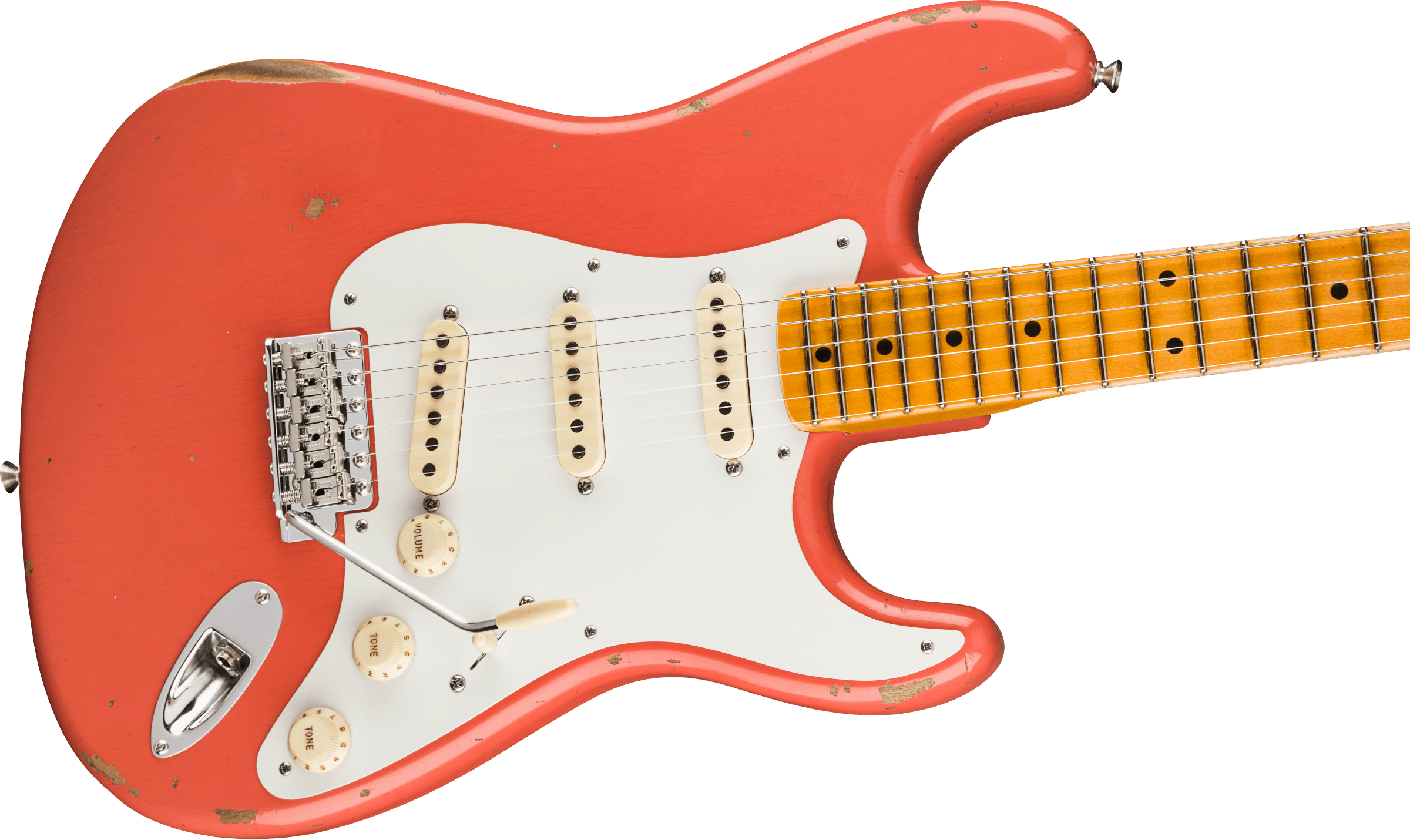 Fender Custom Shop 1956 Stratocaster® Relic®, Maple Fingerboard, Faded Aged Tahitian Coral