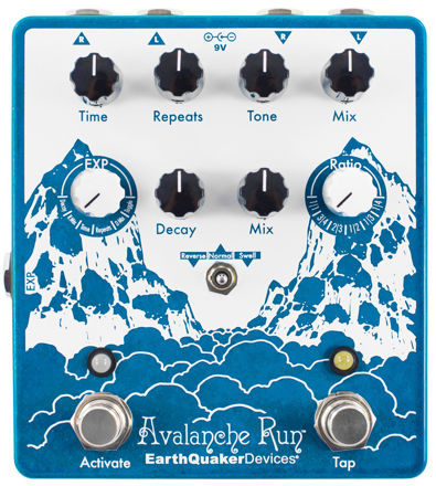 EarthQuaker Devices - Avalanche Run V2 - Stereo Reverb & Delay with Tap Tempo