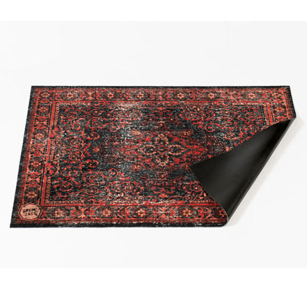 DRUMnBASE VP130-RBL Vintage Persian Red/Black Stage Mat, 130x90 cm