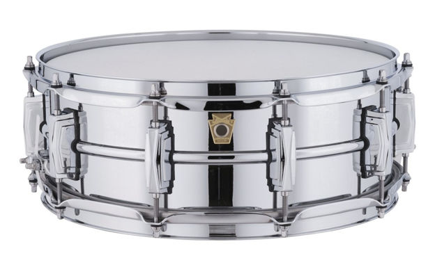 Skarptromme Ludwig Chromed Aluminum Supra-Phonic LM400, 14x5, Smooth Shell, Imperial Lugs