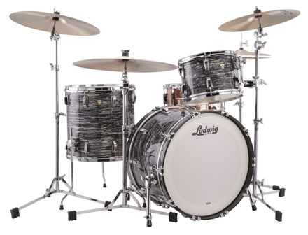 Slagverk Ludwig Classic Maple Fab 22 Shell Pack, m/Atlas Mount, Vintage Black Oyster