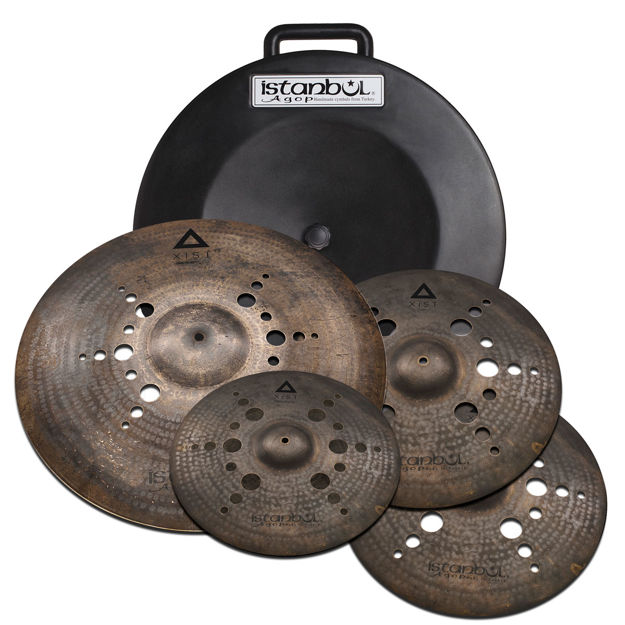 """Istanbul Agop IXBNS2Istanbul Agop Xist Nordic Dark Set + Deluxe Bag (15""""/17""""/19""""/21)"""