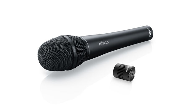 DPA d:facto™ 4018V Softboost Supercardioid Mic, Wired DPA Handle, Black