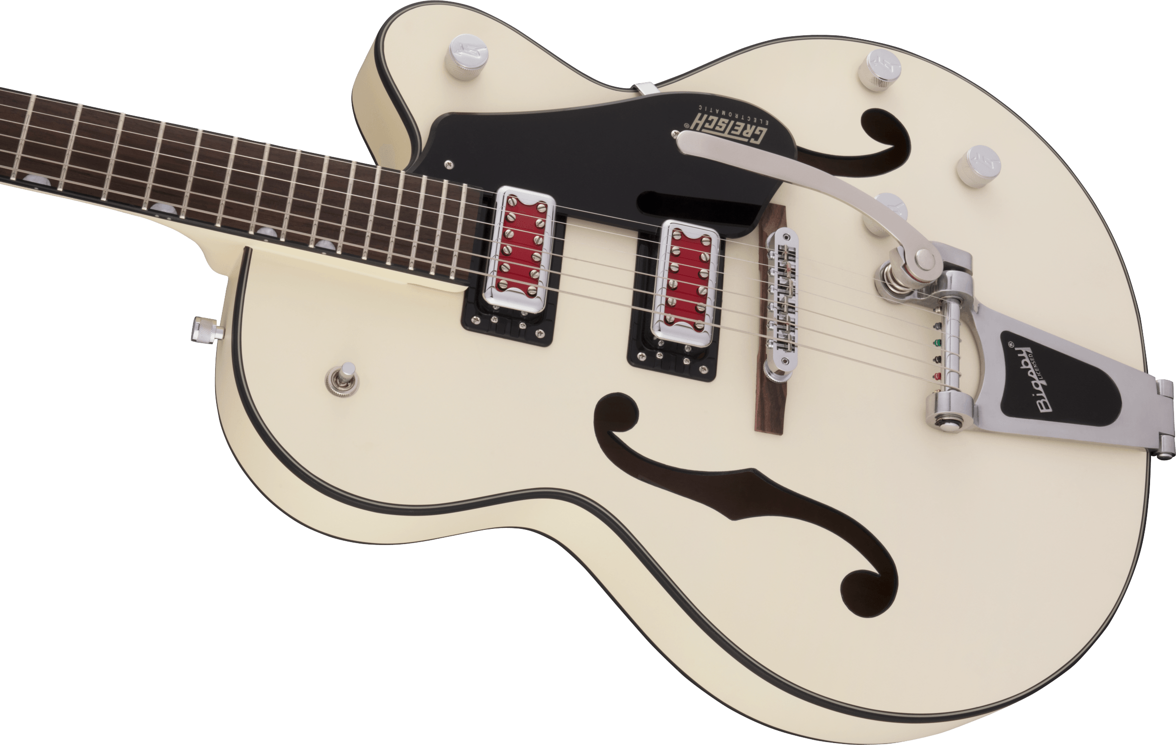 """Gretsch G5410T Electromatic® """"Rat Rod"""" Hollow Body Single-Cut with Bigsby®, Rosewood Fingerboard, Matte Vintage White"""