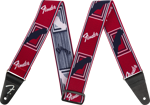 """Fender Weighless™ 2"""" Mono Strap, Red/White/Blue"""