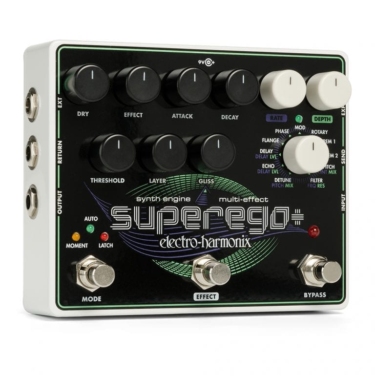 Electro-Harmonix SUPEREGO PLUS Super Synth Engine w/effects and more, 9.6DC-200 PSU included