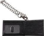Charvel® Limited Edition Leather Wallet with Chain, Black
