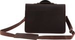 Charvel® Limited Edition Leather Laptop Bag, Brown