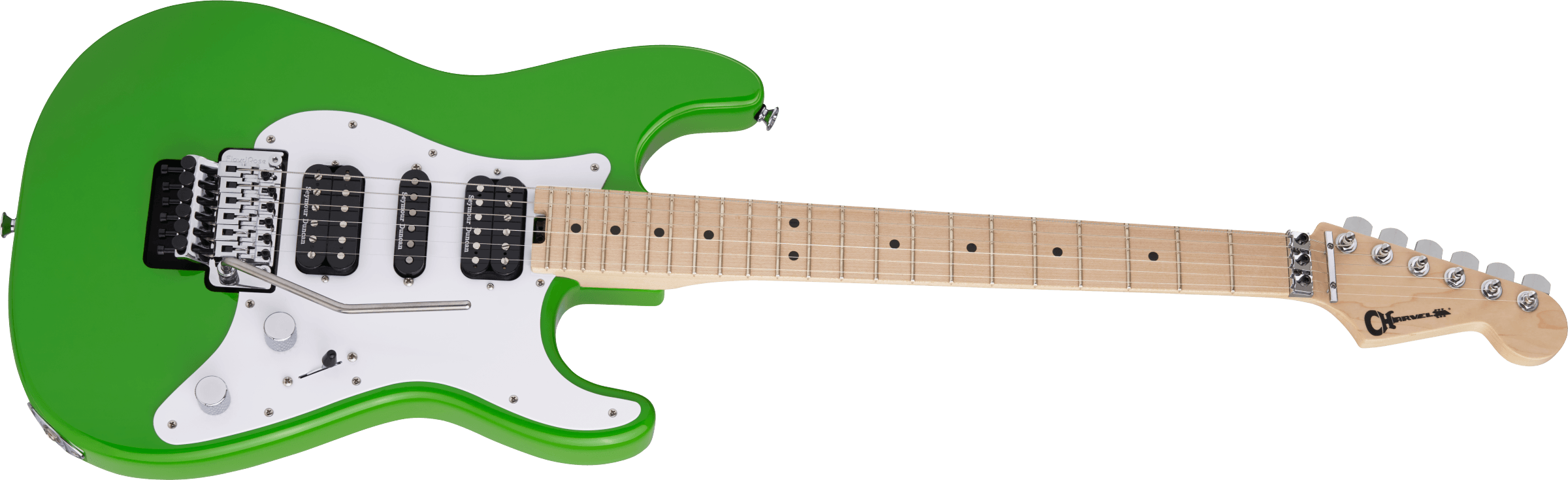 Charvel Pro-Mod So-Cal Style 1 HSH FR M, Maple Fingerboard, Slime Green