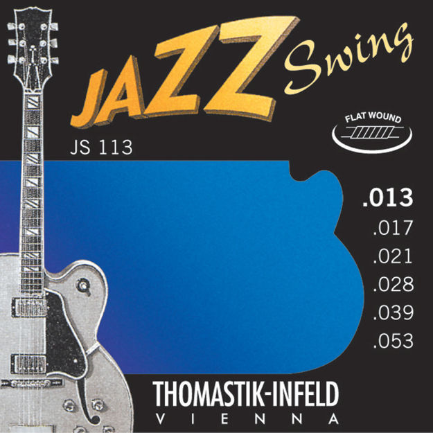 Thomastik-Infeld Strings for E-guitar Jazz Swing Series Nickel Flat Wound Set 013 flatwound - JS113
