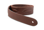 "TaylorWare 4201-20 Taylor Vegan Leather Strap,Med Brown w/Stitching 2.0"",Embossed Logo"