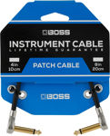 """Boss 8""""/20cm PATCH CABLE WITH PANCAKE JACK PLUGS"""