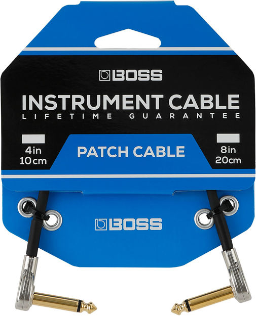 "Boss 18""/45cm PATCH CABLE WITH PANCAKE JACK PLUGS"