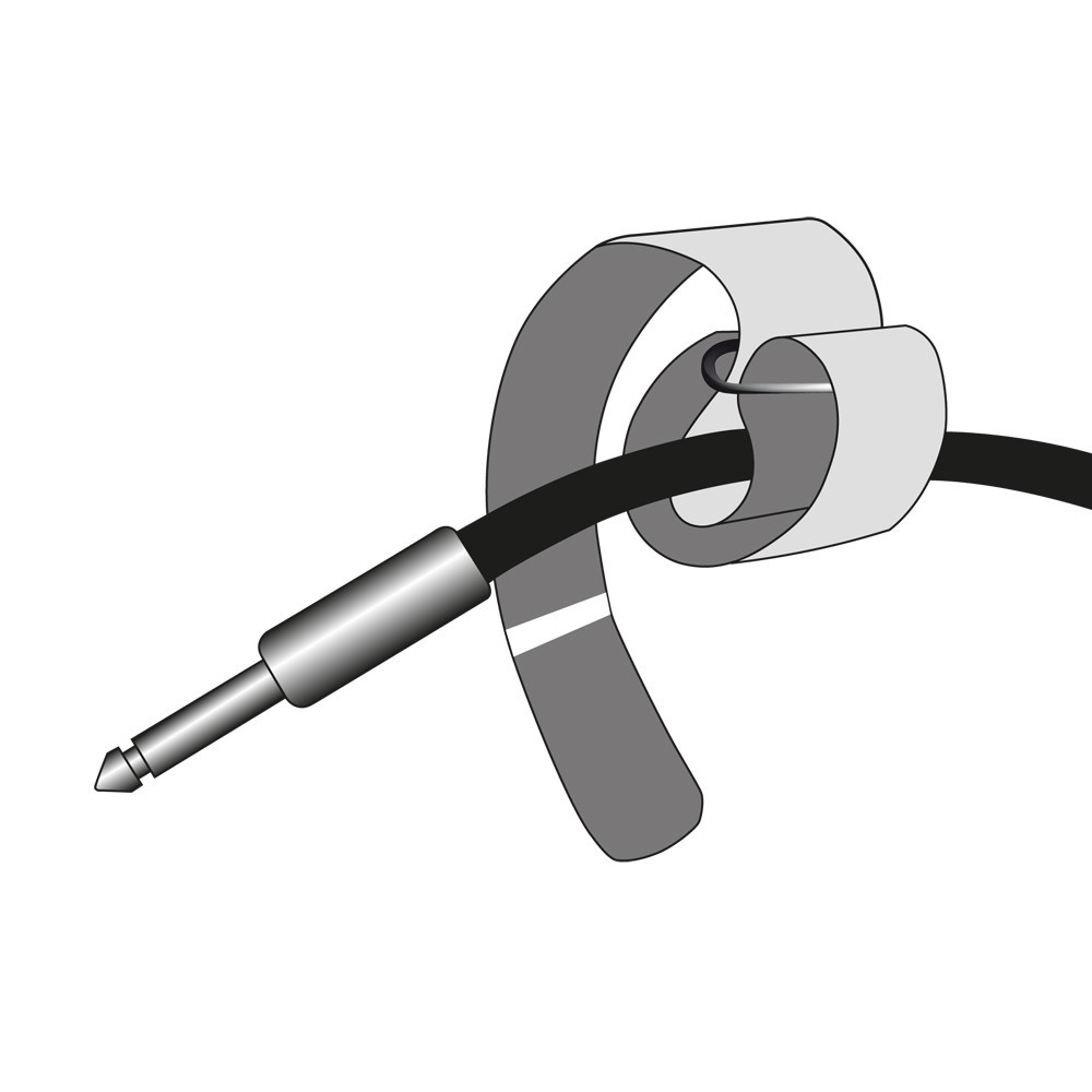 Adam Hall Accessories VR 2530 BLK Hook and Loop Cable Tie