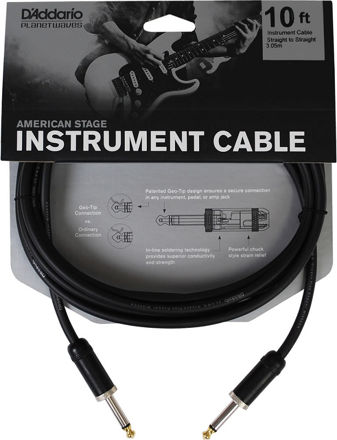 D'Addario American Stage Instrument Cable, 10 feet