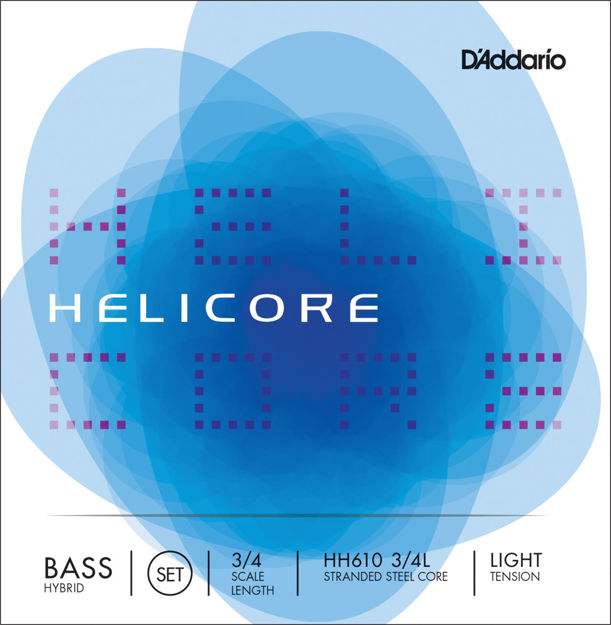 D'Addario Helicore Hybrid Bass String Set, 3/4 Scale, Light Tension