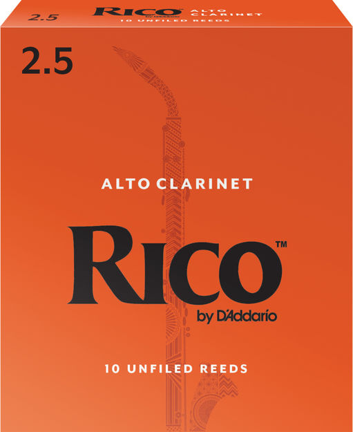 Rico by D'Addario Alto Clarinet Reeds, Strength 2.5, 10 Pack