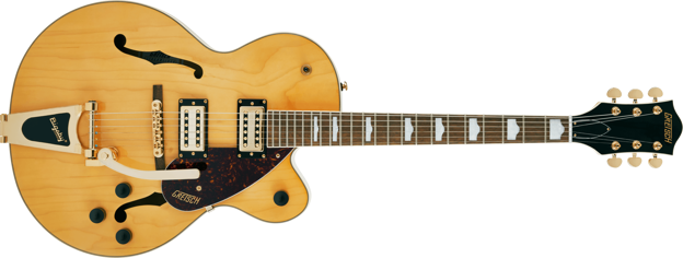 Gretsch G2410TG Streamliner™ Hollow Body Single-Cut with Bigsby® and Gold Hardware, Laurel Fingerboard, Village Amber