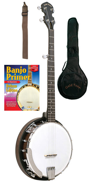 Gold Tone Cc-Bg Beginners Bluegrass Banjo Package For Left Hand Players