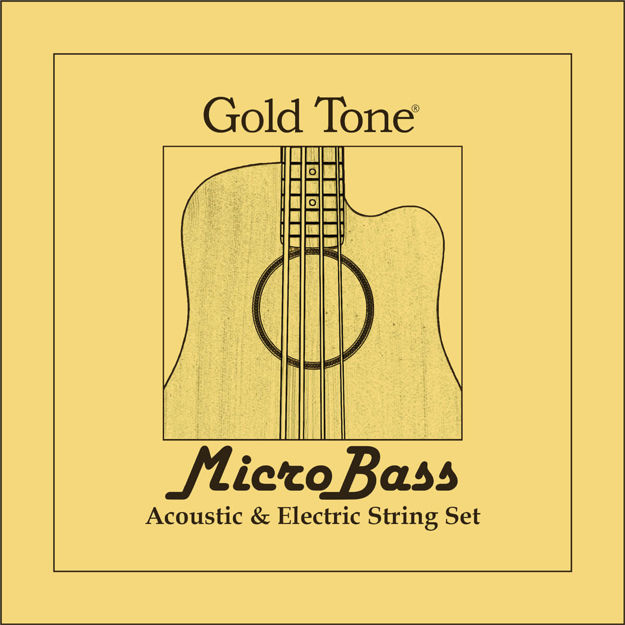 Gold Tone Rubber/Polmer Microbass Strings