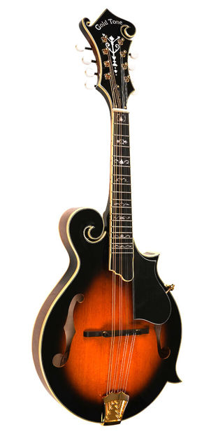 Gold Tone Gm-70+ Professional F-Style Mandolin For Left Hand Players