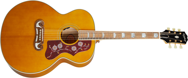 Epiphone J-200 All Solid Wood Aged Natural Antique Gloss