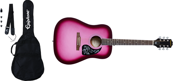Epiphone Starling Acoustic Player Pack Hot Pink Pearl